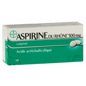Aspirin 500mg - 50 tablets - BAYER