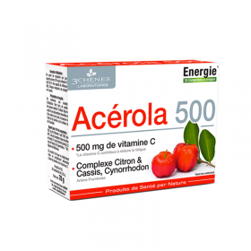 Acerola 500 mg - vitamin C - anti-fatigue - LES...