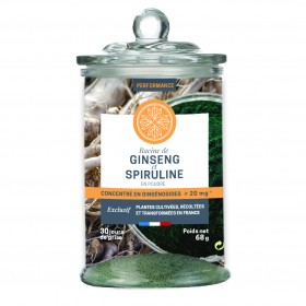 Powder of ginseng and spirulina - JARDINS...