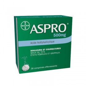 Aspro 500mg - 36 comprimés effervescents - BAYER