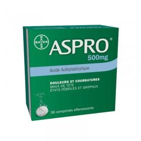Aspro 500mg - 36 comprimés effervescents - BAYER