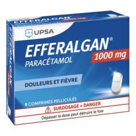 Efferalgan 1g - 8 comprimés sécables - UPSA