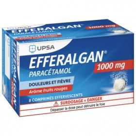 Efferalgan 1000mg - 8 effervescents tablets - UPSA