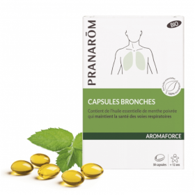 Aromaforce bronches 30 capsules - PRANARÔM