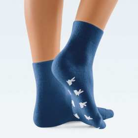 Blue angora wool socks by ClimaCare